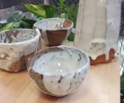 白萩焼き締め鉢